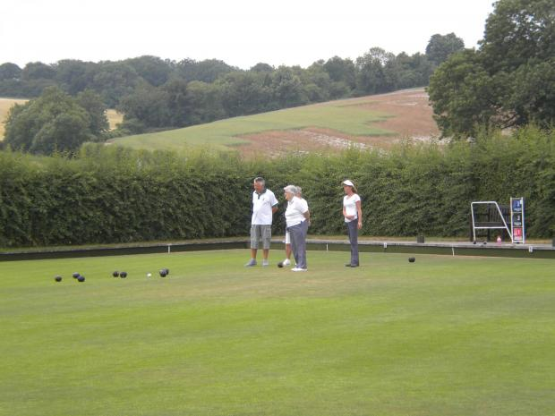 The idyllic setting at St Mary Bourne Bowls Club who open their green this weekend