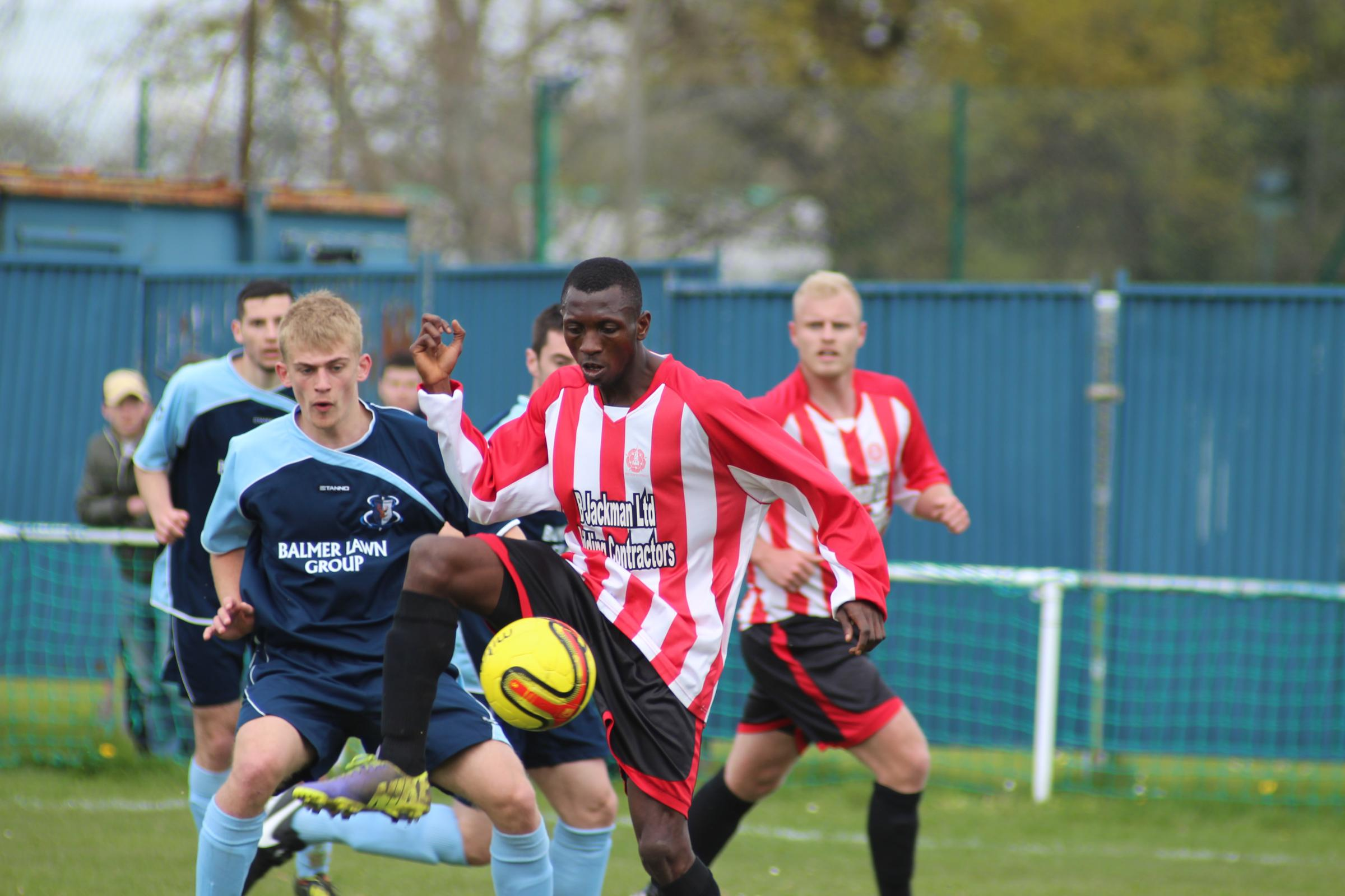 Isaac Sedu went close for Whitchurch during their defeat to Alresford Town