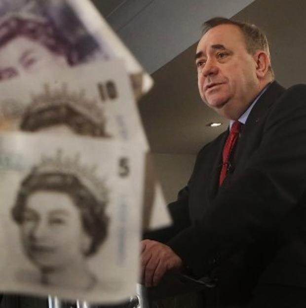 Andover Advertiser: Mr Salmond will again insist that Scotland will keep the pound, despite the pointed refusal of all major UK parties to agree to a currency union