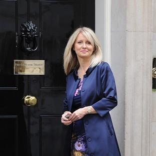 Esther McVey Parliamentary Under Secretary of State for Disabled People, arrives at 10 Downing Street, London, as Prime Minister David Cameron, kicked off a coalition reshuffle, with Scottish Secretary Michael Moore among the casualties.