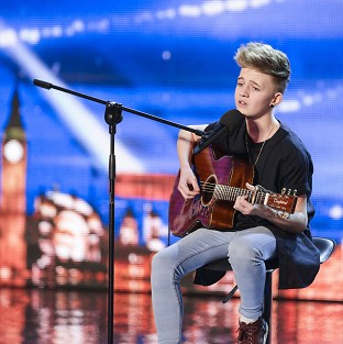Bailey McConnell performing on Britain's Got Talent.