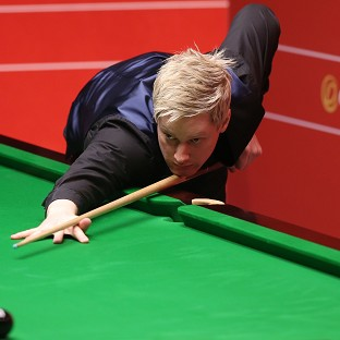 Neil Robertson, pictured, made his 98th and 99th centuries of the season
