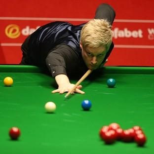 Neil Robertson, pictured, is through to the World Snooker Championship quarter-finals