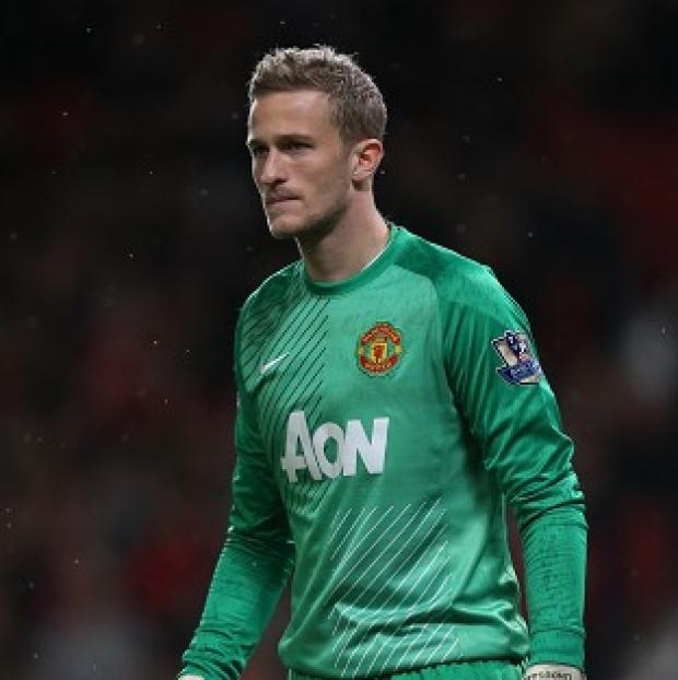 Andover Advertiser: Anders Lindegaard, pictured, has hailed interim Manchester United boss Ryan Giggs