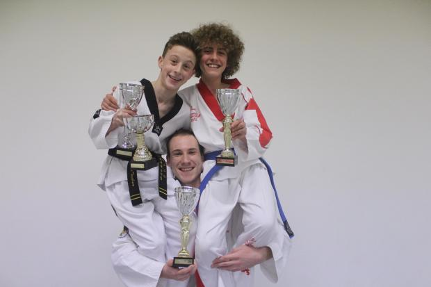 Andover Tae Kwon Do British Championship trophy winners