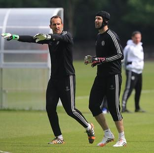 Chelsea's Petr Cech trained with his team-mates on Tuesday, but will miss the Champions League clash against Atletico Madrid