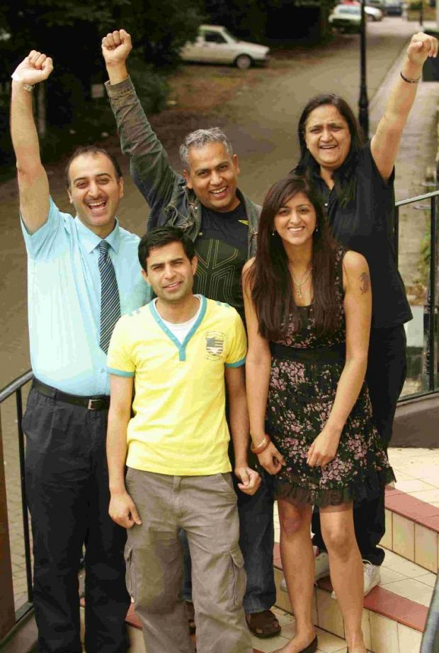 Andover Advertiser: AIR WE GO: Ali Beg, Shah Khalid, Khalid Farooq, Sonal Kanabar and Chandrika Kanabar from Awaaz FM.