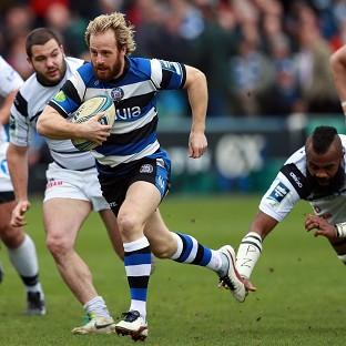 Bath full-back Nick Abendanon, centre, will leave the west country club at the end of the season