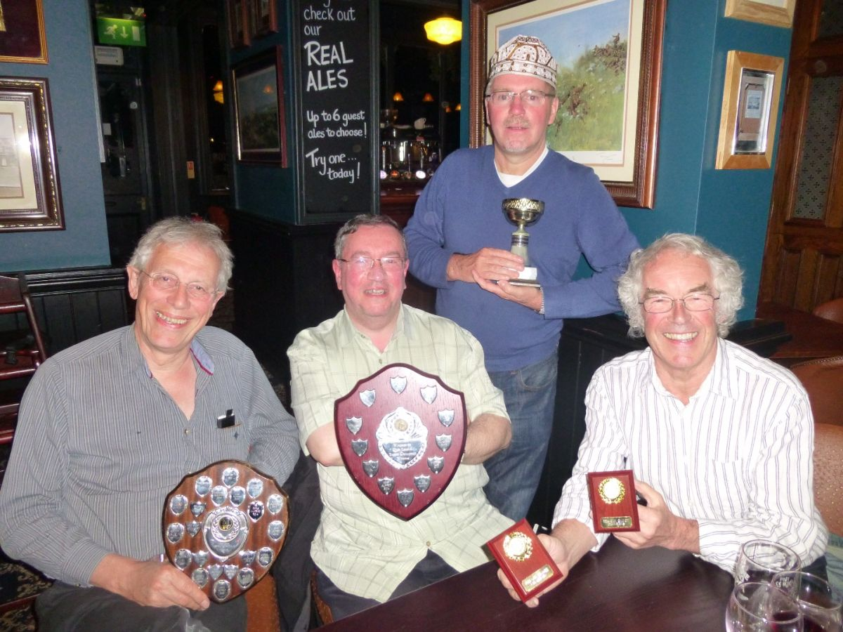 Winning King Alfred Pub Quiz Team: (from left to right) Steve Marper, Kevin Ashman, Jim Reidy (standing) and captain, Michael Morris.