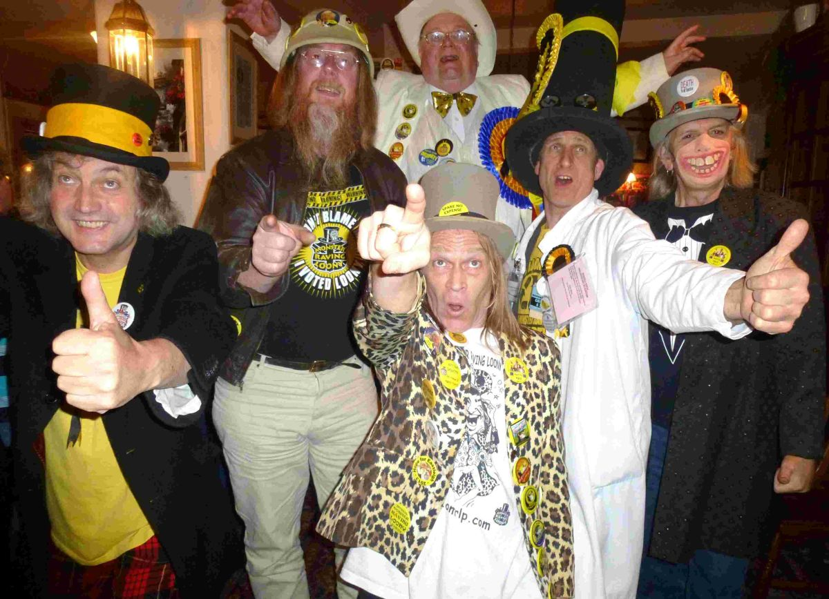 Official Monster Raving Loony Party launch Euro campaign in Winchester