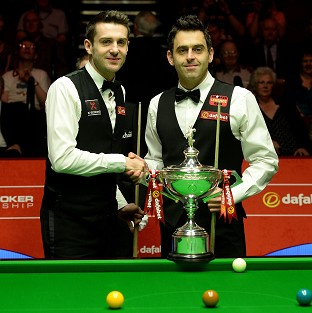 Ronnie O'Sullivan, right, has tipped Mark Selby to win further World Championship titles