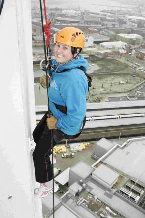 Jenny nets over £1,200 from tower abseil