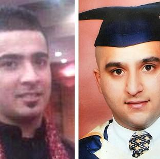 Haroon Jahan, left, and Shazad Ali, both died when they were mowed down by a car while protecting their community from looters in Birmingham.