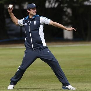 Alastair Cook had to be patient in the Aberdeen rain