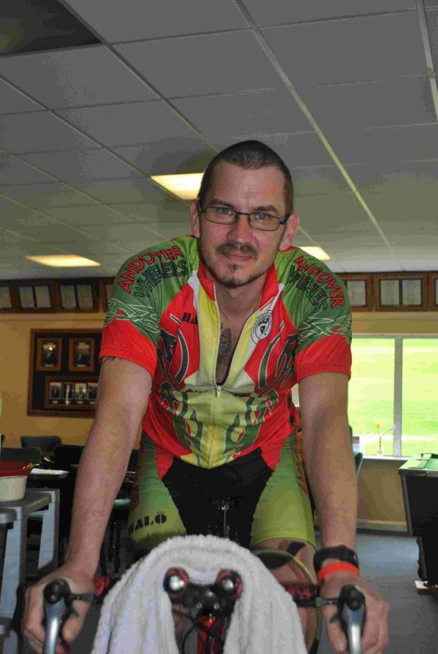 Andover Advertiser: Andover man's 24 hour cycle for Naomi House