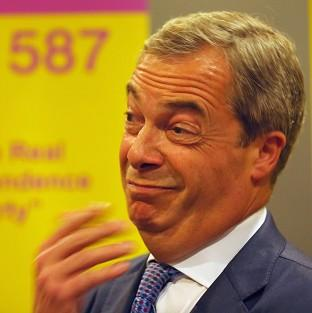 Andover Advertiser: Ukip leader Nigel Farage attends a rally at the Corn Exchange, Edinburgh