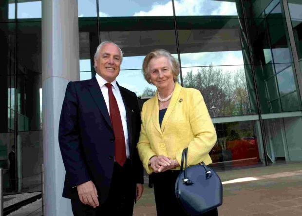Dame Mary Fagan with Cllr Roy Perry
