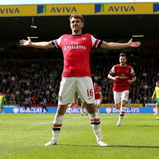 Aaron Ramsey scored a stunning goal as Arsenal confirmed Norwich's relegation