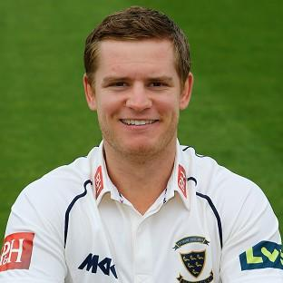 Ben Brown, pictured, enjoyed a record partnership with Luke Wright