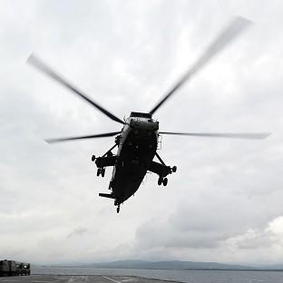 Andover Advertiser: A Sea King helicopter was involved in the search