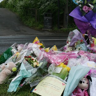 Floral tributes for Jasmyn Chan.