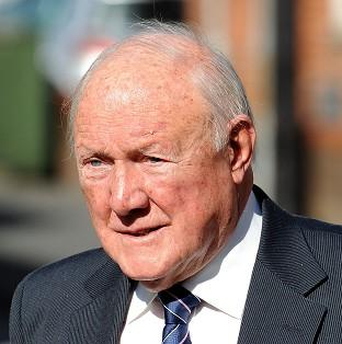 File photo dated 02/05/13 of Stuart Hall who plied two young girls with drink and preyed upon their vulnerability to repeatedly rape them, a jury has heard. Hall, 84, is said to have raped and indecently assaulted two young girls on various dates more tha