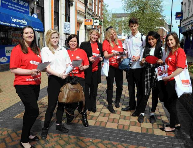 Andover Advertiser: Staff from Adecco talk to students from Cranbourne Business and Enterprise College, in Winchester Street, Basingstoke