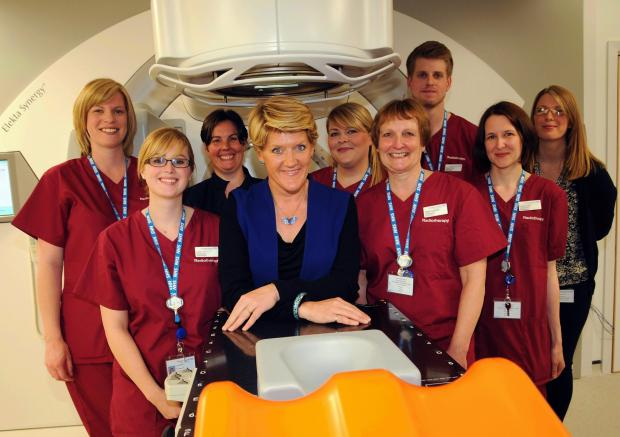 Andover Advertiser: Clare Balding has opened a new radiotherapy unit at Basingstoke hospital