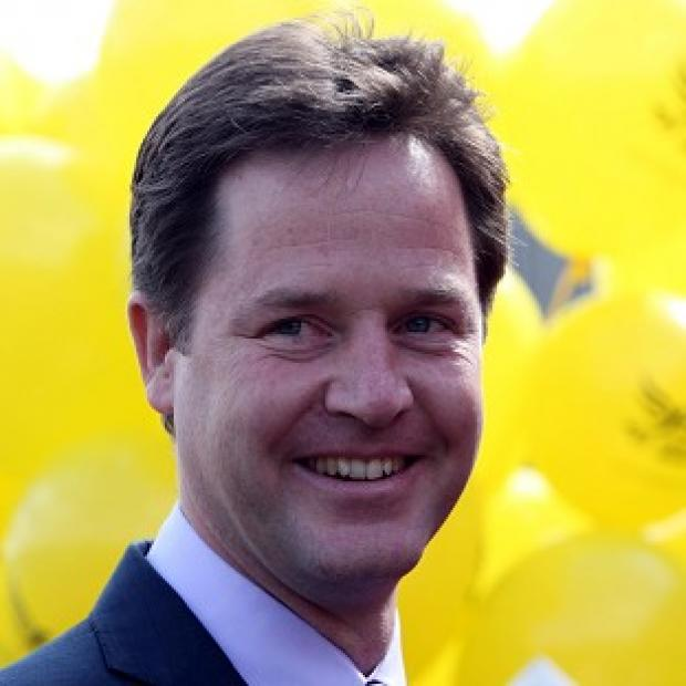 Andover Advertiser: Nick Clegg accused Nigel Farage of promoting the 'politics of division'