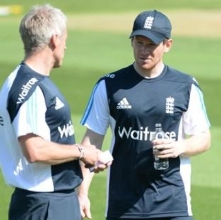 Andover Advertiser: Eoin Morgan, right, will again captain England's Twenty20 side in Stuart Broad's absence on Tuesday