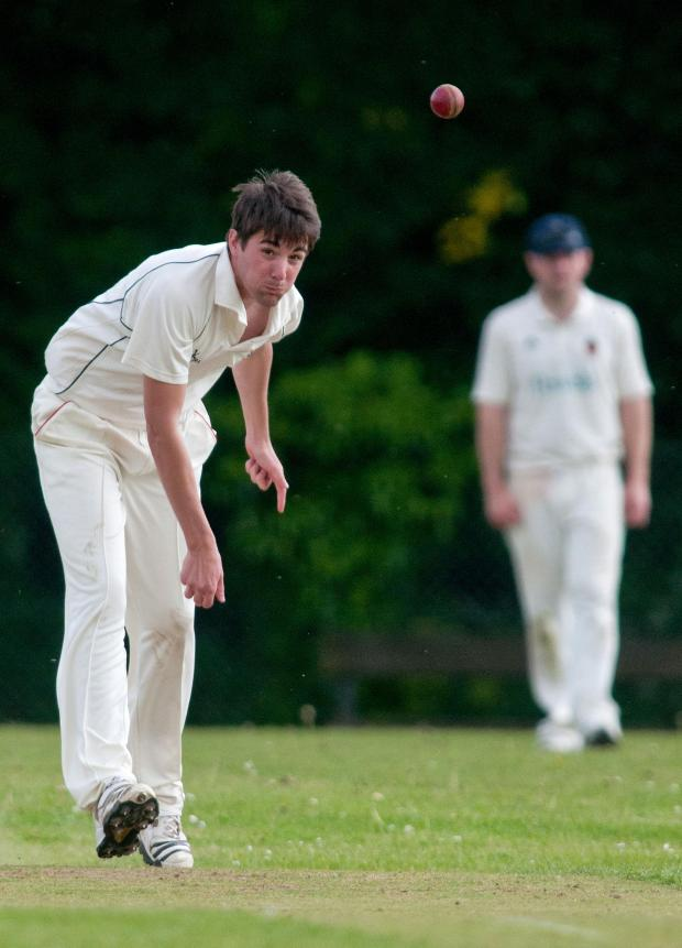 Andover Advertiser: Ryan Ward struck with his first ball