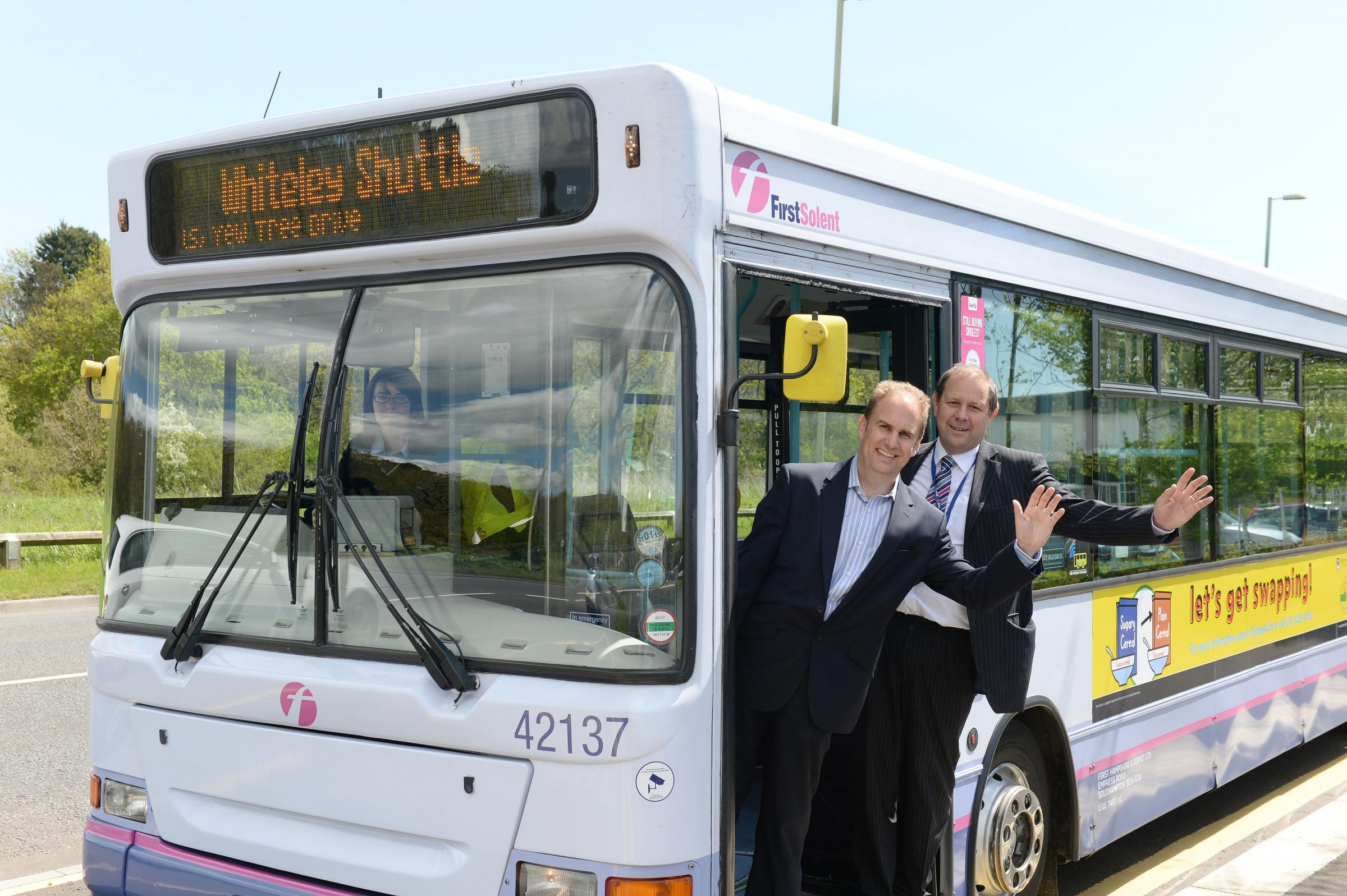 Neil Carter with Steve Hobbs of First Bus
