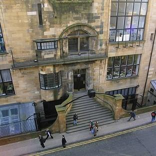 Andover Advertiser: The fire at Glasgow School of Art's Charles Rennie Mackintosh building was reported at about 12.30pm (PA/GSA)