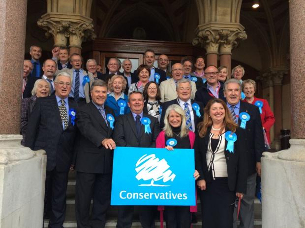 Celebrating Tories at Guildhall today