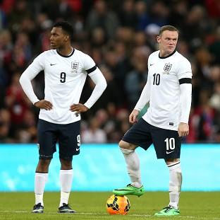 England boss Roy Hodgson is hopeful that Daniel Sturridge, left, and Wayne Rooney, right, will form a deadly partnership for England