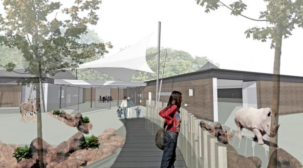 The new enclosure will be better suited to house the zoo's rhinos, antelopes and zebras
