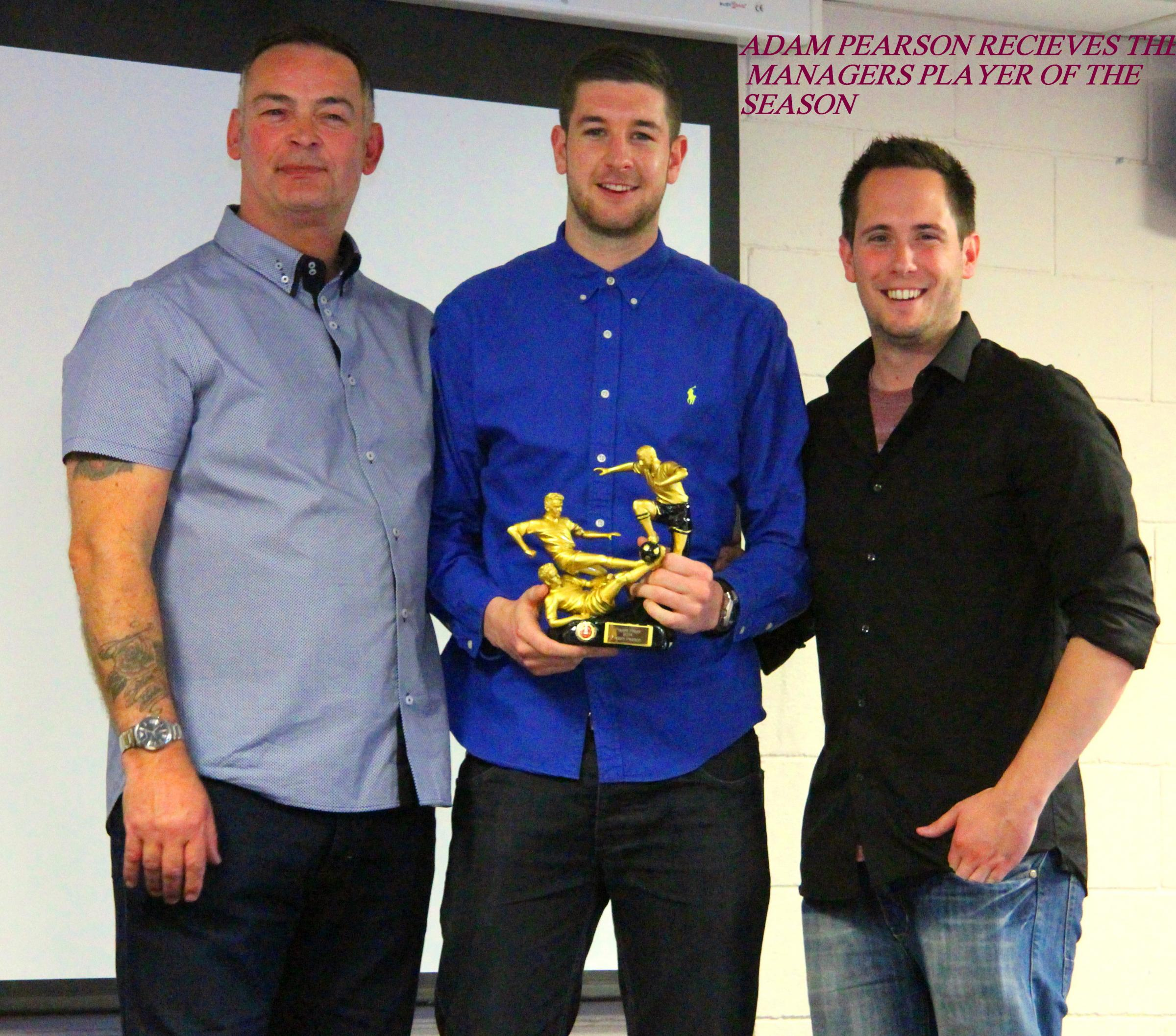 Adam Pearson took two awards at the presentation evening