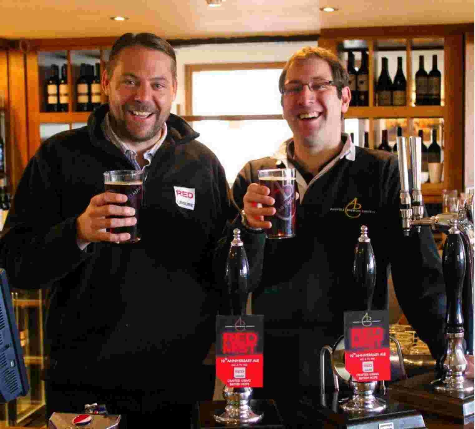 L-R: Mark Robson, of Red Mist Leisure and Adam Komrower from Andwell Brewing Company