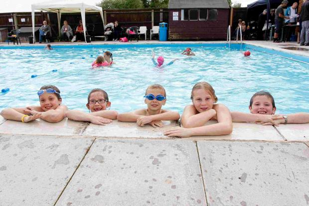 Andover Advertiser: BBC's Caroline opens pool for the summer
