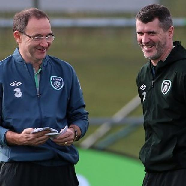 Andover Advertiser: Roy Keane, right, has held talks with Celtic, according to Republic of Ireland boss Martin O'Neill, left