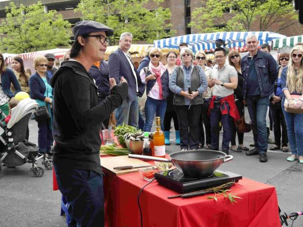 Luke Nguyen was filming for his new cookery TV show. Picture by Hampshire Farmers Market