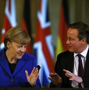 Andover Advertiser: David Cameron issued his warning to Angela Merkel at the EL leaders summit in Brussels, it was reported