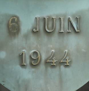 The memorial near the beach in Ouistreham, known as Sword Beach