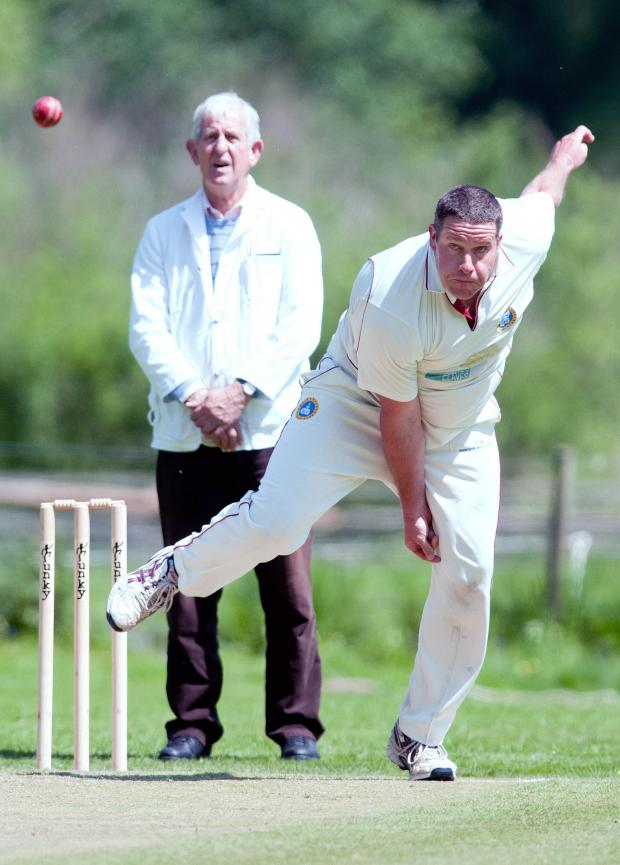 Andover Advertiser: Whitchurch's James Hayward had a busy day at Littleton with bat and ball