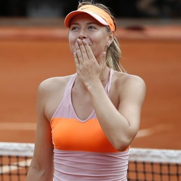 Andover Advertiser: Maria Sharapova, pictured, recovered from a set down to defeat Garbine Muguruza (AP)