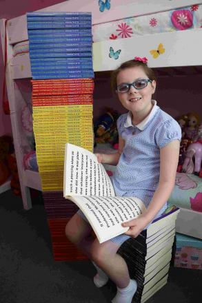 Kayleigh Ann Hayes has received what is thought to be the largest copy of Harry Potter in the world.