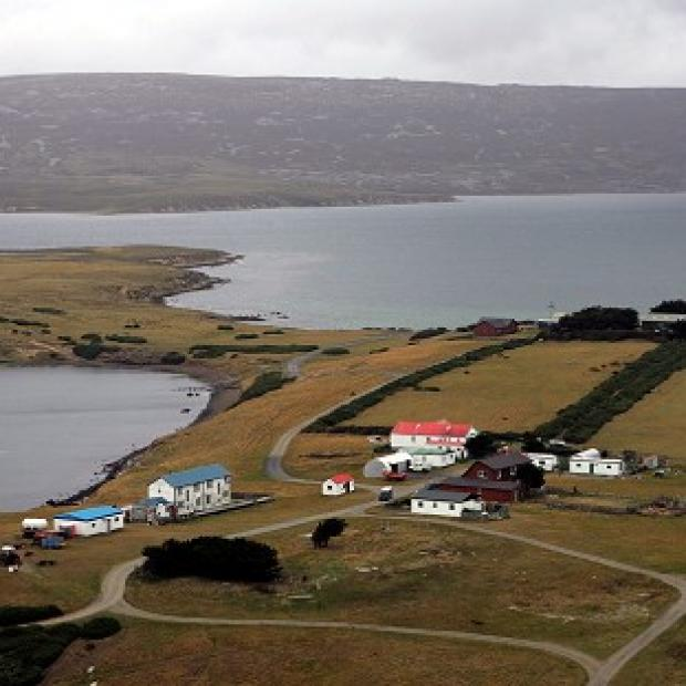 Andover Advertiser: San Carlos in the Falkland Islands