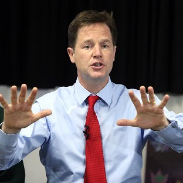 Andover Advertiser: Nick Clegg says the national debt must be cut in a fair way