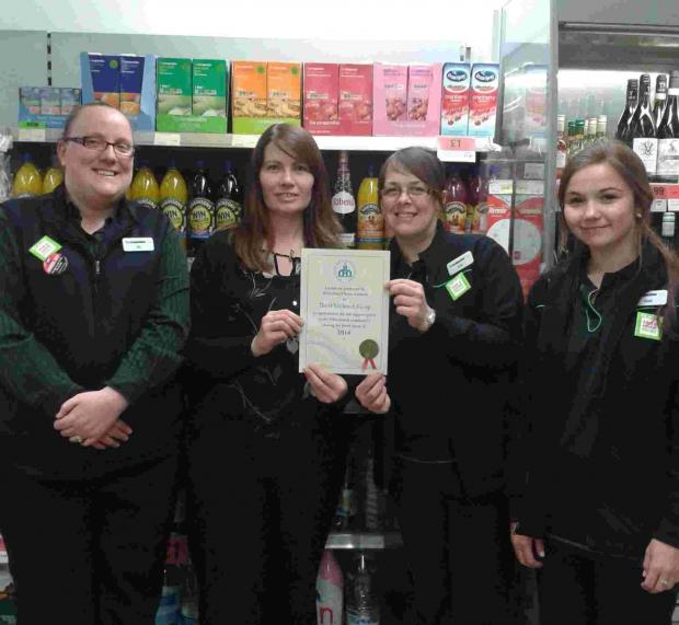 Shop awarded for action during winter floods