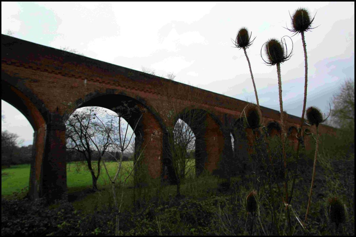 The Hockley Viaduct that carried the Didcot, Newbury and Southampton Railway